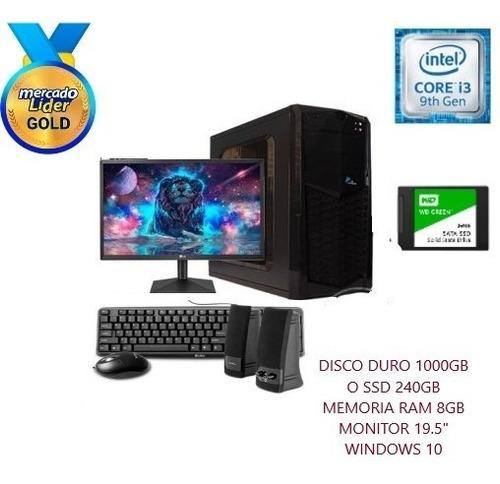 Computadora Intel Core I3 3.6 9na 1tb O Ssd 240gb 8gb Led 20