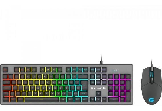 Teclado + Mouse 6400 Dpi Gamer Rgb Rainbow Ranger Fortrek