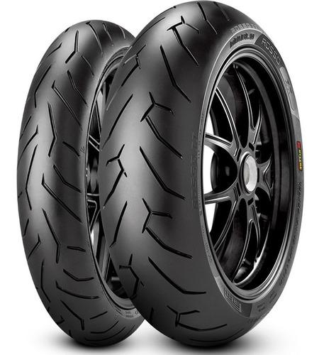 Imagen 1 de 1 de Kit Cubiertas Pirelli Diablo Rosso 2 Twister Ybr Ys Fasmotos