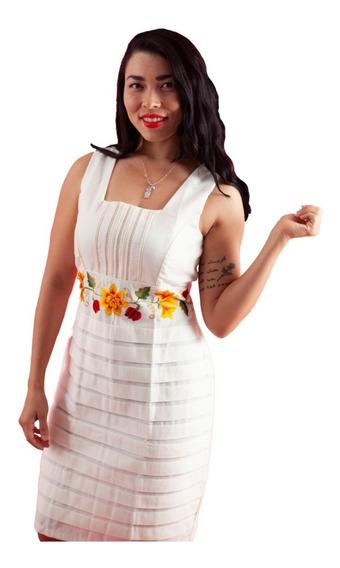 Vestido Formal Teya Color Hueso De Lino Y Algodón