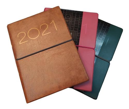 Agenda Medium 2021 Semanal Tapa Con Elástico Cod. 336
