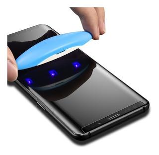 Vidrio Templado Samsung S8 S8+ S9 S9+ Simil Dome Glass Gel + Lampara Uv