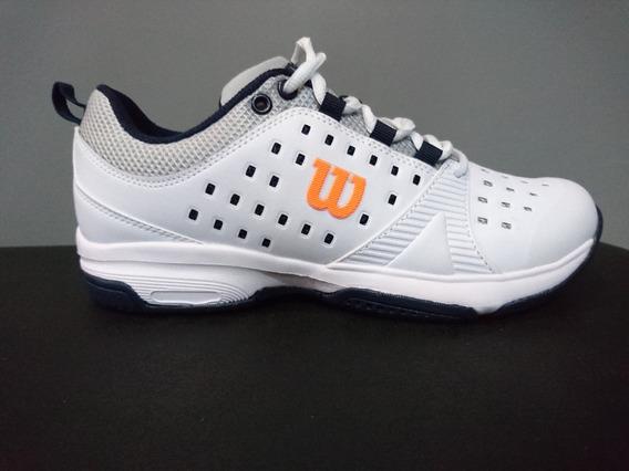 Zapatillas Tenis Wilson Set Hombre White/orange (l1m1b) S+w