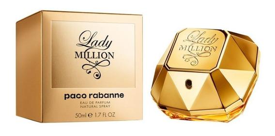 Lady Million Eau De Parfum 50ml Feminino + Amostra De Brinde