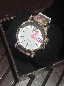 Relógio adidas Estampado Flor Marrom