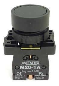 Kit 5 Botões Pulsadores Para Furo 22mm - Cores - P20bfr