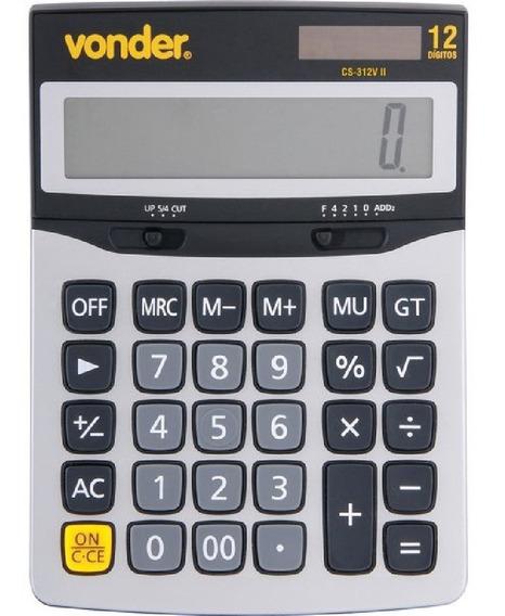 Calculadora Solar De Mesa 12 Digitos Não Usa Pilhas Vonder