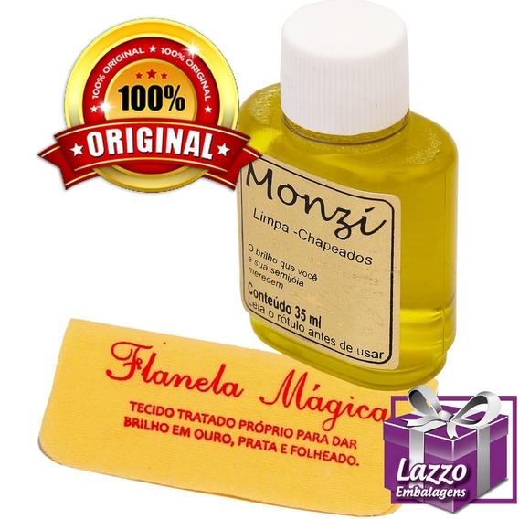 Limpa Folheados Banhados E Chapeados Monzi 35ml Original!!!
