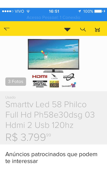 Tv Smart Led Lcd Philco Ph58e38dsg