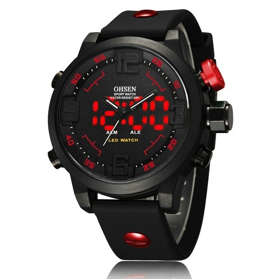 Relógio Masculino Ohsen Digital Analógico A20 - Vermelho