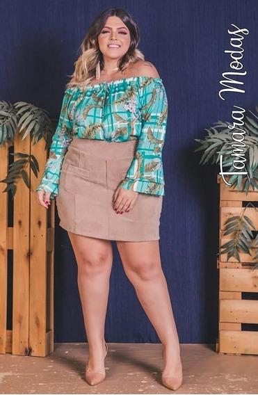 Saia Com Shorts Por Dentro Não Marca Veludo Cotelê Tam Gg 46