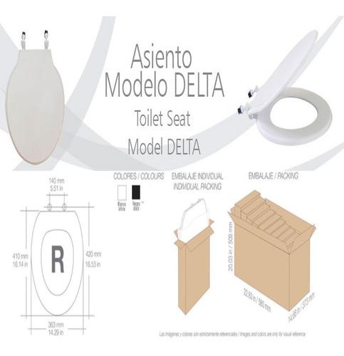 Tapa Asiento Poceta Sanitario Blanco Delta Resimol