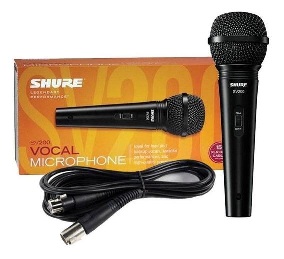 Microfone Shure Sv200 Original Com Cabo