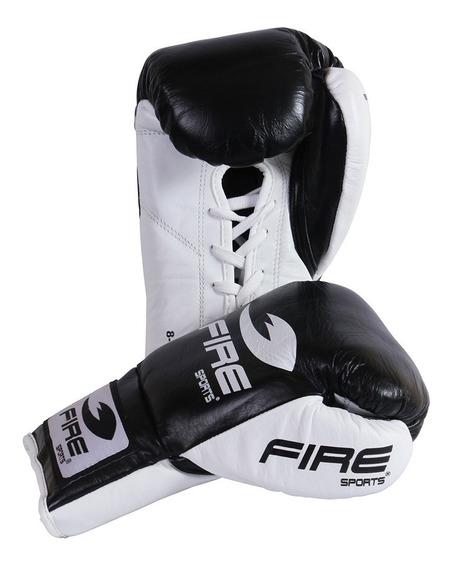 Guantes Box Profesional Fire Sports 8oz 10oz 100% Piel Negro