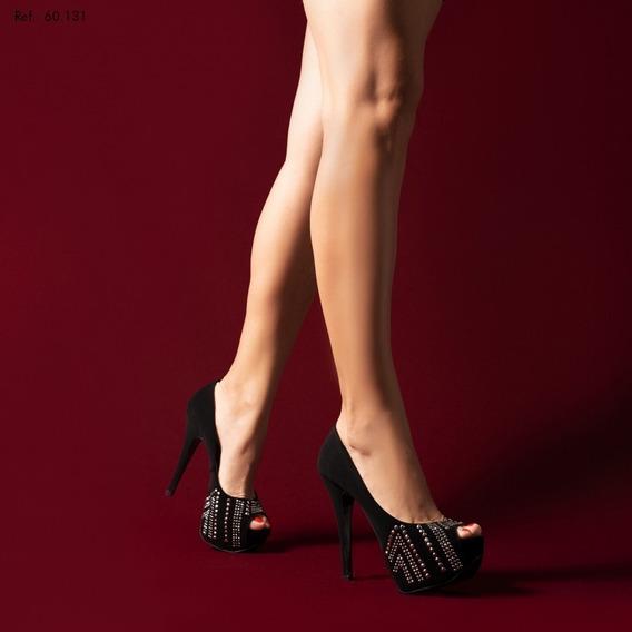 Sapato Meia Pata Hotfix Prata (aplicação De Brilho);