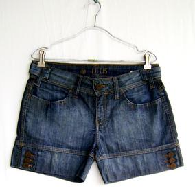 Short Jeans Feminino Lelis Blanc Tamanho 38 Usado