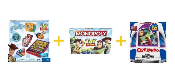 Kit Juegos De Mesa Monopoly Toy, Operando Buzz Y Toy Story 6