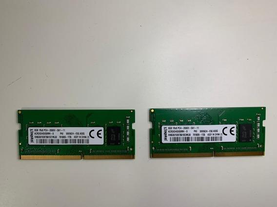 2 Memorias Notebook Pc4-2666v-sa1-11 8gb 1rx8