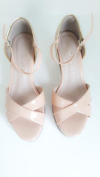 Sapato Plataforma Nude