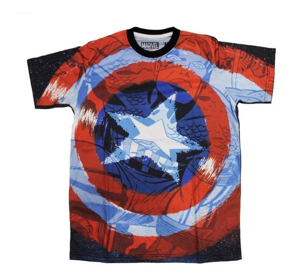 Remera Marvel Capitan America Original Freedom 0052