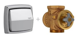 Valvula Descarga Inodoro Con Tapa Tecla Deca Hydra Clean