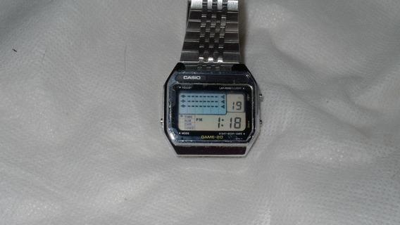 Relógio Casio Game Gm 20 Ano 1982 Fun Perfeitamente.