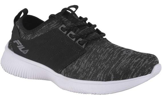 Zapatillas Fila Slide W De Mujer Para Running Gris Con Negro