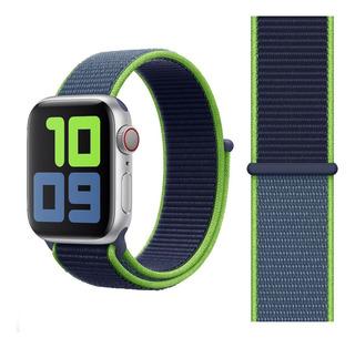 Pulseira Nylon Loop Para Apple Watch 42/44mm - Neon Lime