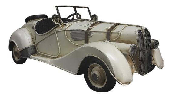 Auto Color Blanco Antiguo Añejo Coleccion Miniatura