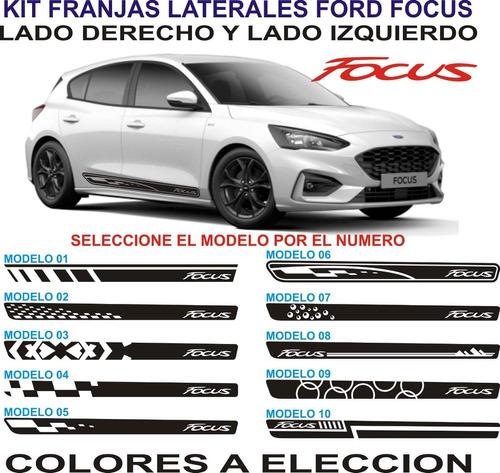 Imagen 1 de 2 de Franjas Laterales Para Autos Ford Focus - Graficastuning