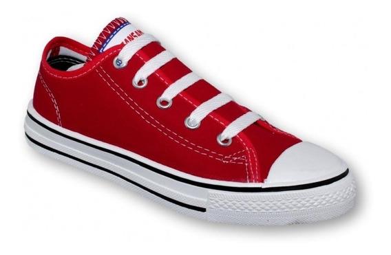 Tenis Choclo Casual De Joven Textil Rojo-mod.0700al5391579
