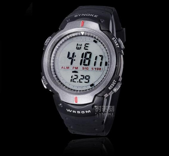 Relógio Masculino Esportivo Digital Led Synoke Caminhada