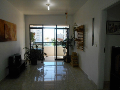 Apartamento Com 2 Dormitórios Para Alugar, 90 M² Por R$ 2.600/mês - Campo Grande - Santos/sp - Ap4256