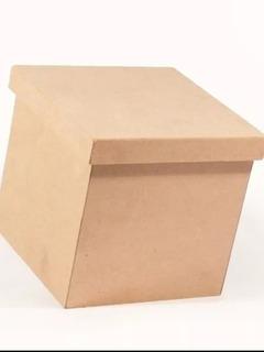 Caja Madera Mdf 25x25x25 Sin Tapa
