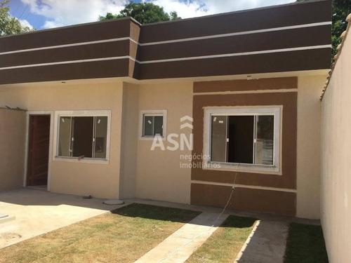 Casa Linear De 02 Dormitórios Proximo Da Rodovia Serramar, Rio Das Ostras - Ca0199