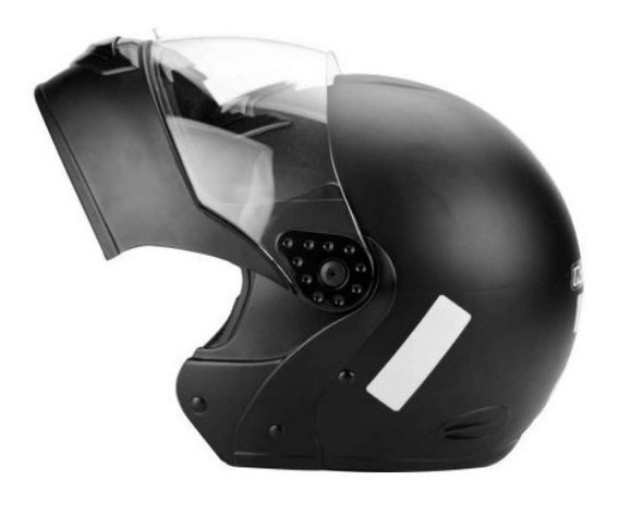 Capacete Mixs Preto Fosco Articulado + Balaclava Grátis Moto