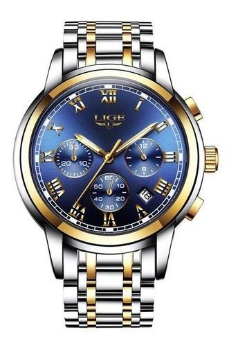 Relógio Lige Luxo Análogico Moda Casual Negócios