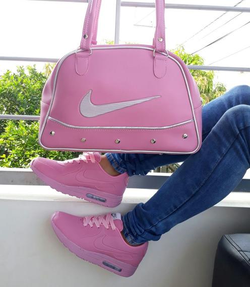 Combo Tenis Y Bolso Combo Nike En Promocion , Envio Gratis