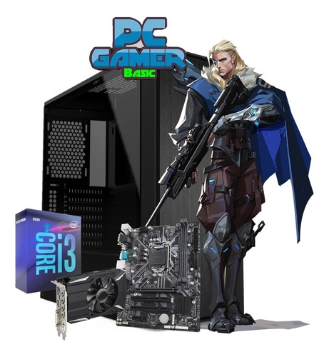 Pc Gamer Intel I3-9100 240gb Ssd 8gb Radeon Rx550 4gb Gddr5
