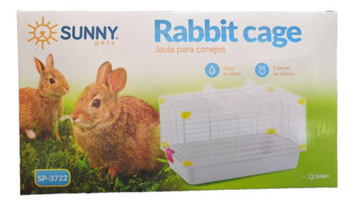 Jaula Para Conejos Sunny Sp-3722 Morado 62x35x40cm