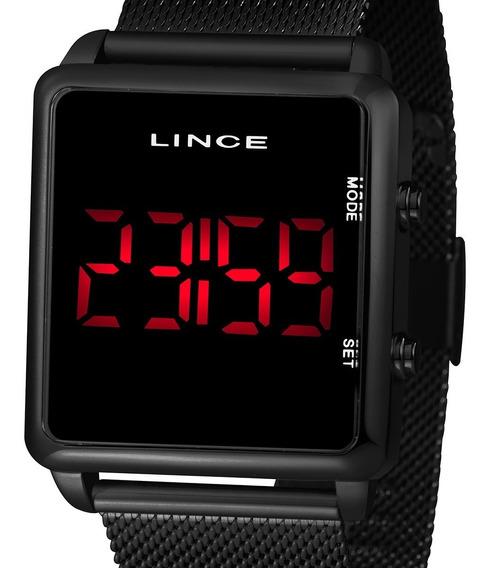 Relógio Digital Led Lince Feminino Mdn4596l Pxpx Preto