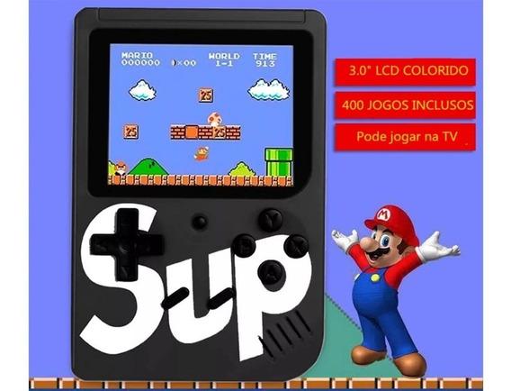 Mini Game Portátil Recarregavel Video Game Mario 400 Jogos