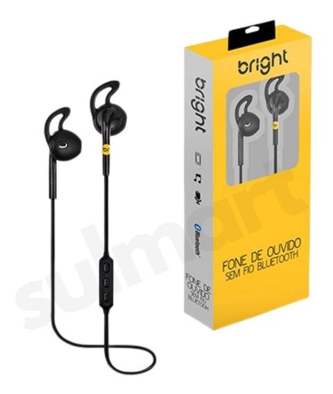 Fone De Ouvido Bright 0481 Bluetooth E Controle De Volume Nf