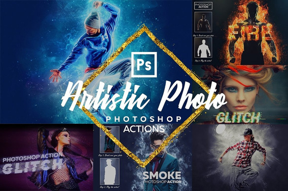 Artistic Photoshop Action Bundle - 1595427