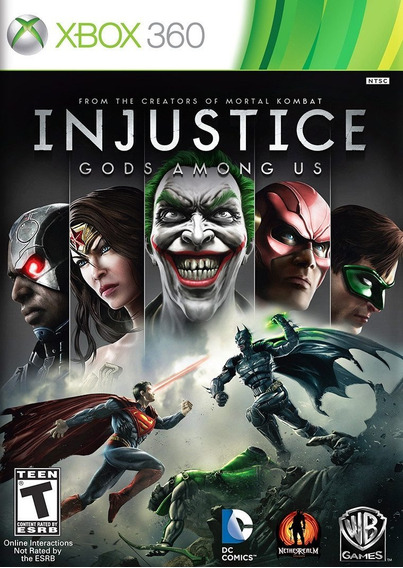 Injustice Gods Among Us Xbox 360 - Mídia Física | Playgorila