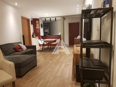 Apartamento De 90m², 03 Dormitórios E 02 Vagas De Garagem. - Ap0034