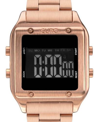 Relógio Euro Feminino Eug2510ad/4j Quadrado Rosê + Nf