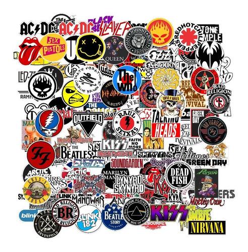 Adesivos Bandas De Rock 30 Un.