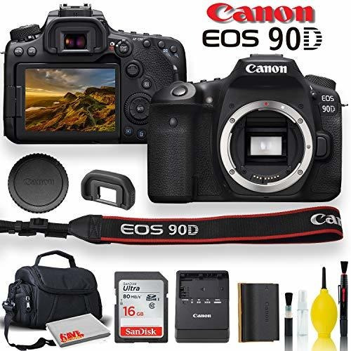 Canon Eo 90d Camara Dslr Estuche Acolchada Memoria