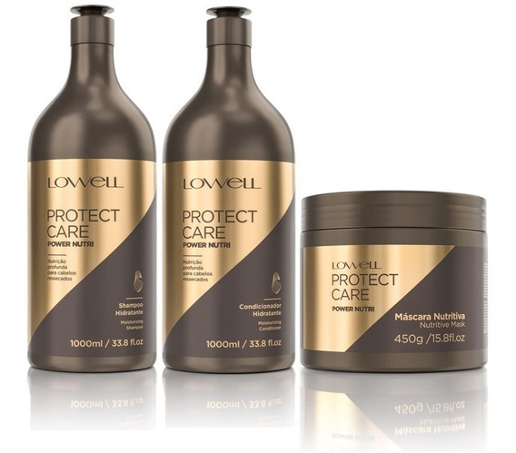 Protect Care Shampoo + Condicionador 1l + Masc 450g Lowell